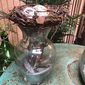 Bird Nest Jar Vase Handcrafted